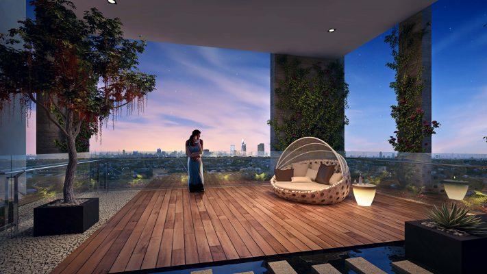 Vườn treo trên không – đẳng cấp riêng tư chỉ dành cho cư dân sở hữu căn hộ cao cấp HaDo Centrosa Garden